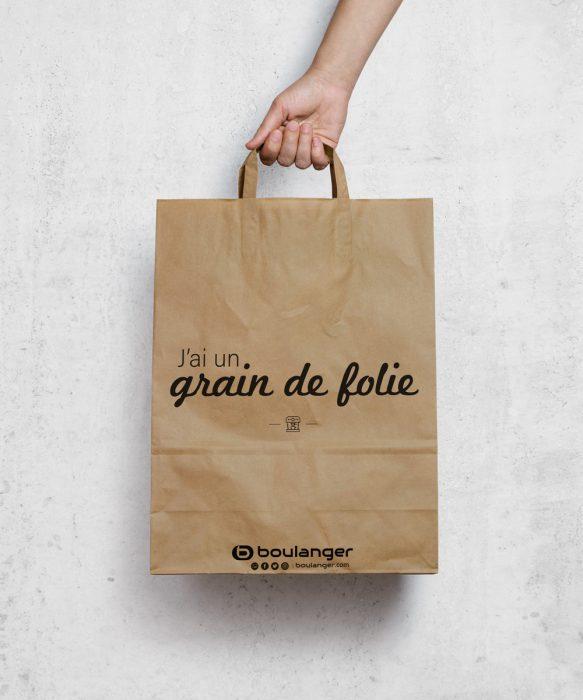 design sac kraft boulanger, expression grain de folie, Corentin Luchart