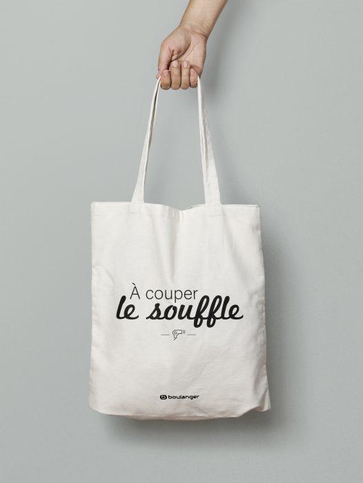 création tote bag boulanger, expression à couper le souffle, Corentinlu